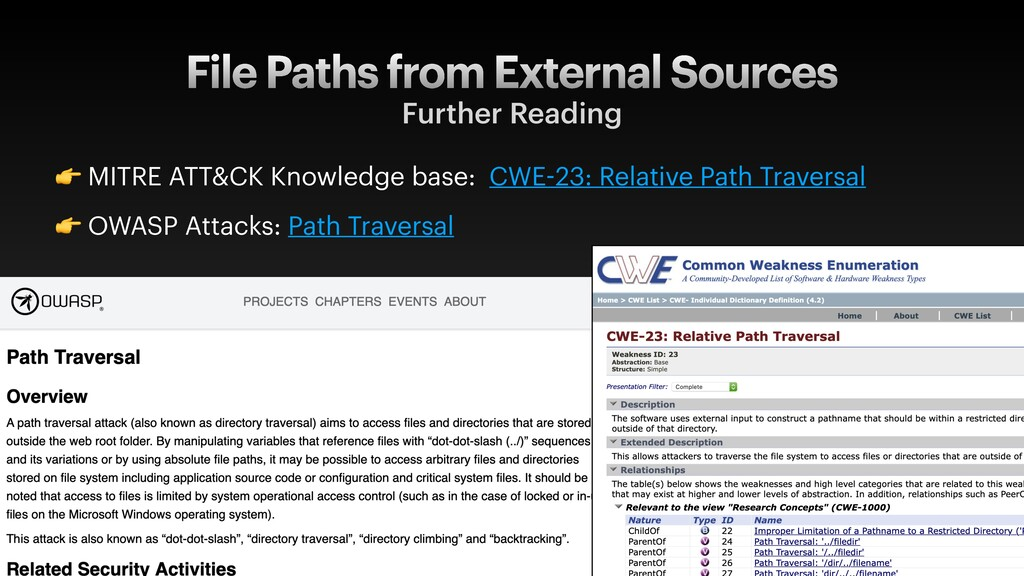 File Paths from External Sources Further Readin...