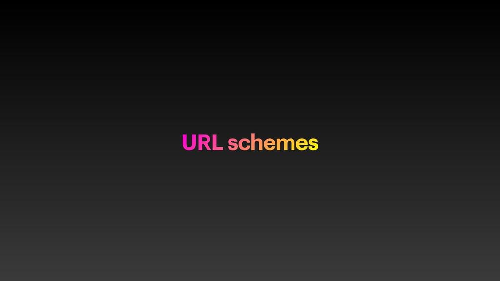 URL schemes