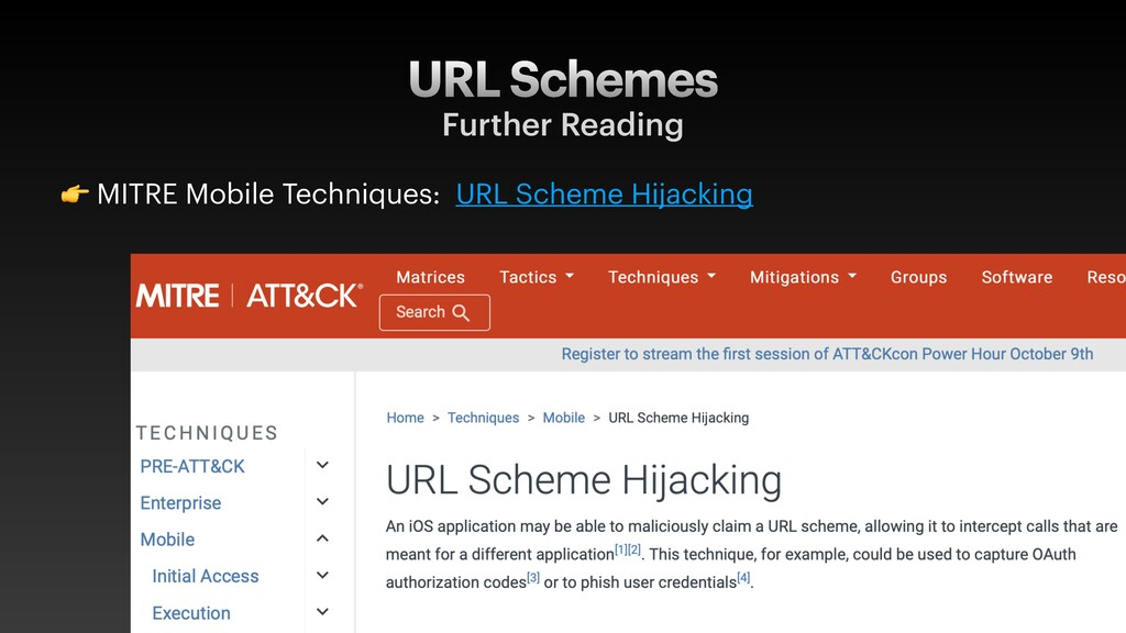 URL Schemes Further Reading  MITRE Mobile Techn...