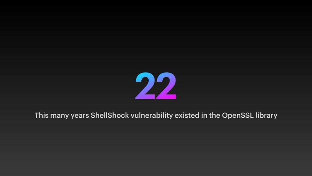 22 This many years ShellShock vulnerability exi...