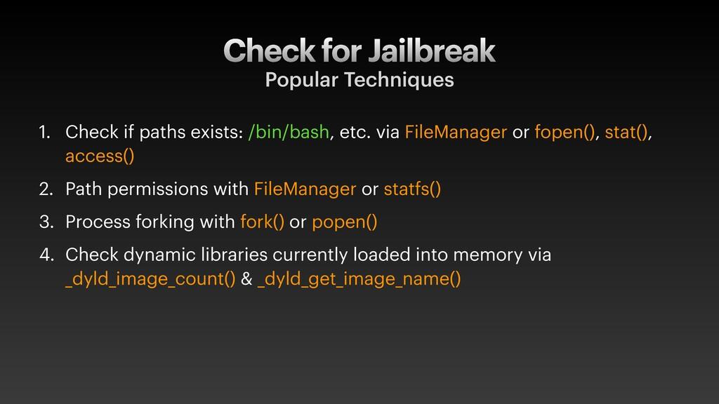 Check for Jailbreak Popular Techniques 1. Check...