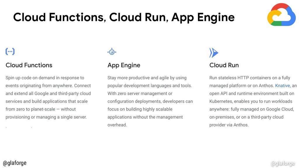 @glaforge Cloud Functions, Cloud Run, App Engin...
