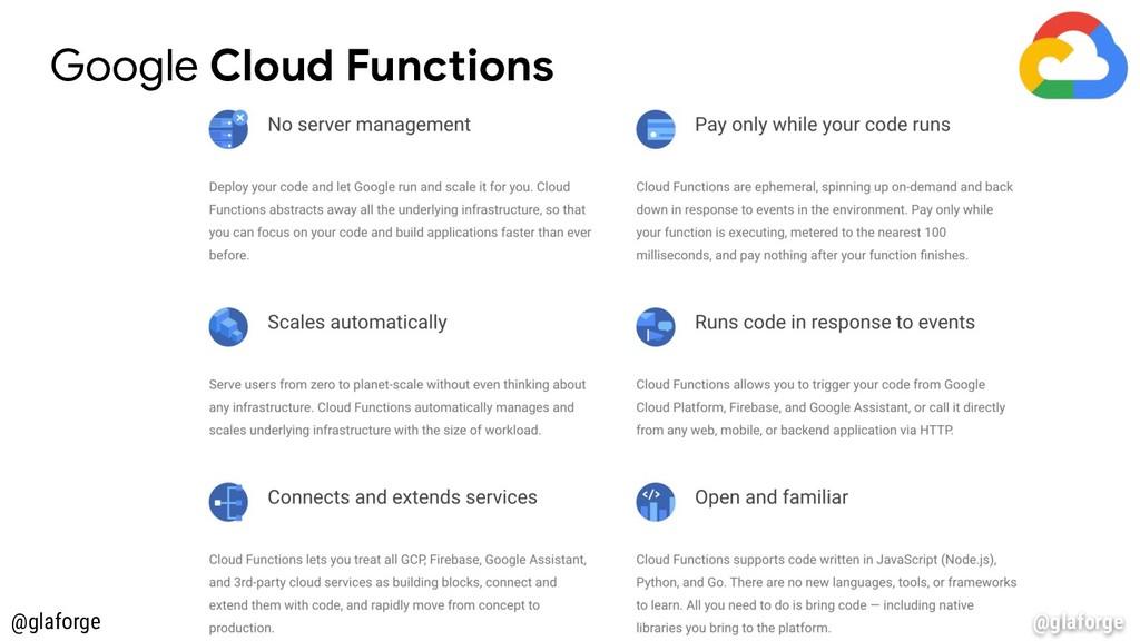 @glaforge Google Cloud Functions @glaforge
