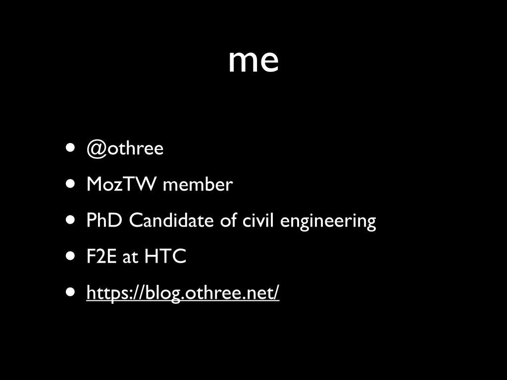me • @othree  • MozTW member  • PhD Candida...