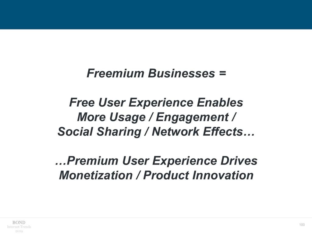 100 Internet Trends 2019 Freemium Businesses = ...