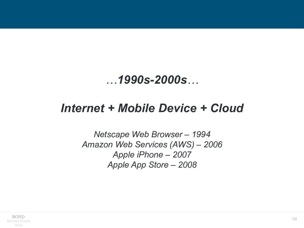 128 Internet Trends 2019 …1990s-2000s… Internet...