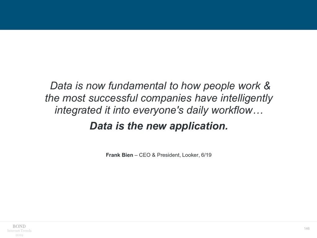 146 Internet Trends 2019 Data is now fundamenta...