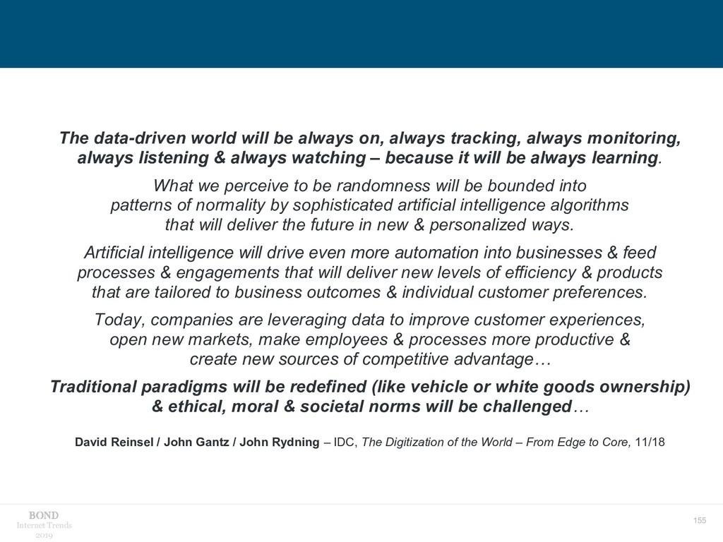 155 Internet Trends 2019 The data-driven world ...