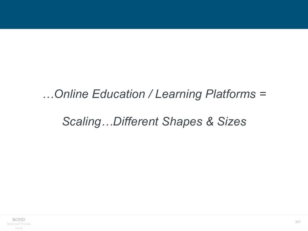 241 Internet Trends 2019 …Online Education / Le...