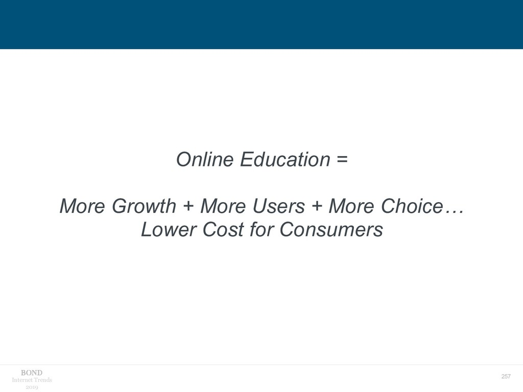 257 Internet Trends 2019 Online Education = Mor...