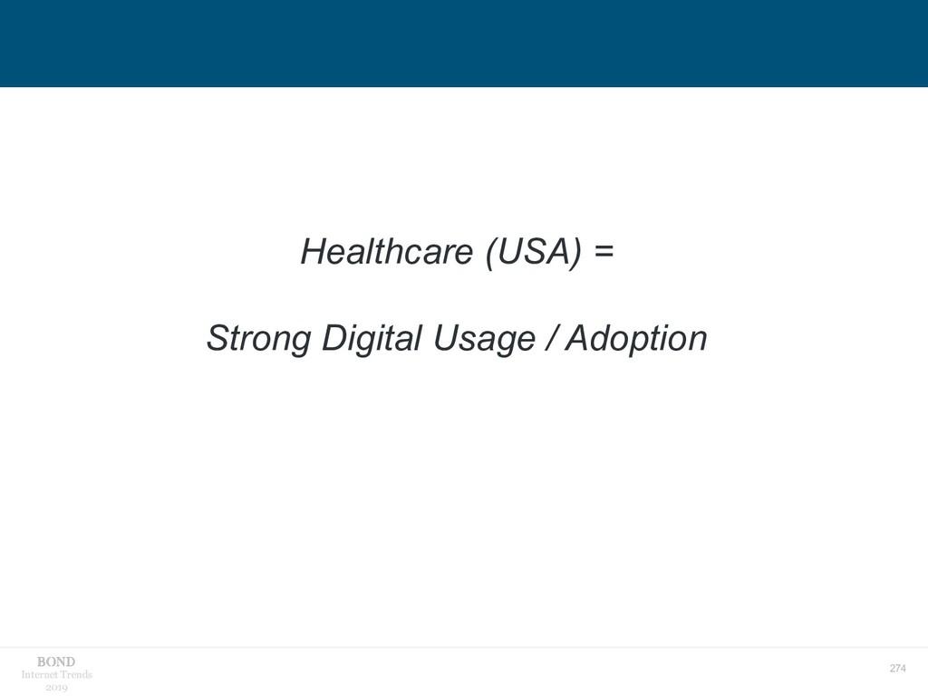 274 Internet Trends 2019 Healthcare (USA) = Str...