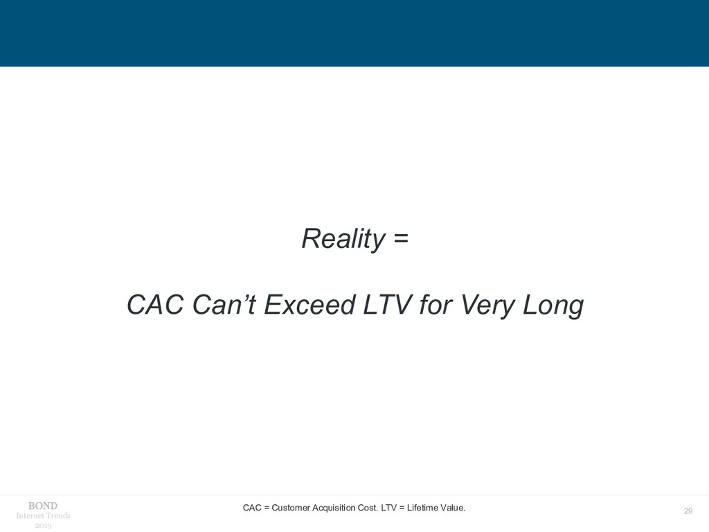 29 Internet Trends 2019 Reality = CAC Can't Exc...