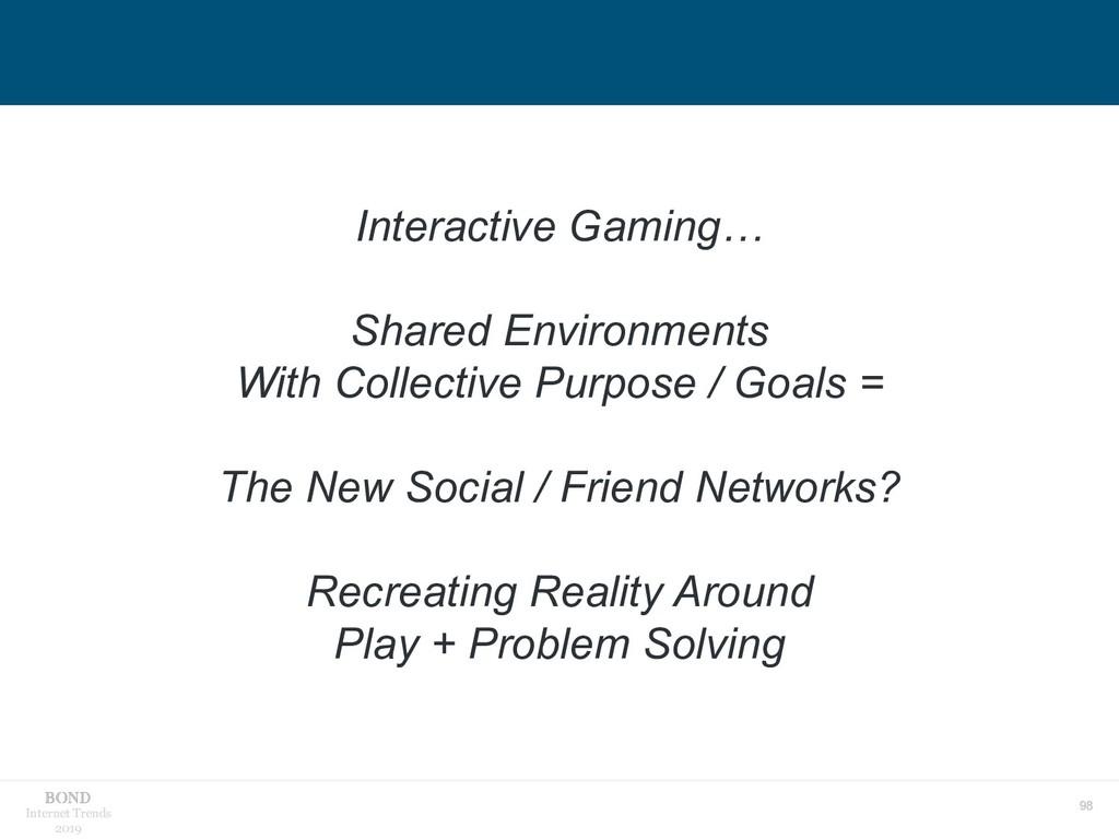 98 Internet Trends 2019 Interactive Gaming… Sha...