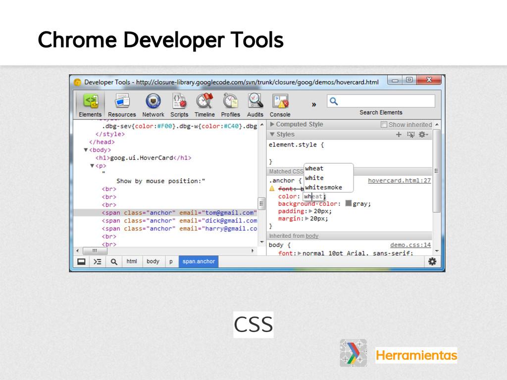Chrome Developer Tools CSS Herramientas