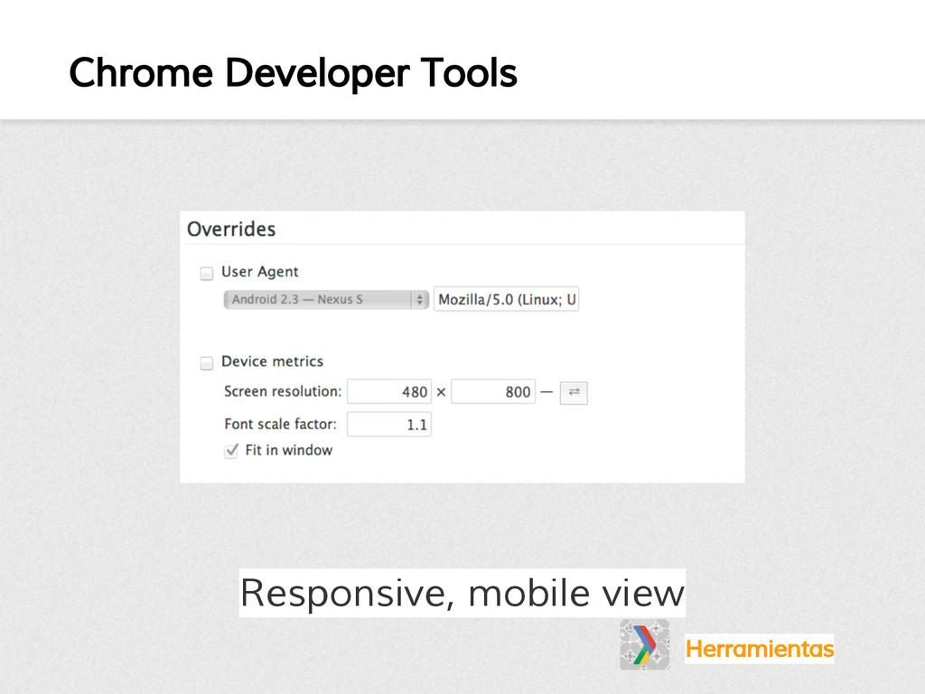 Chrome Developer Tools Herramientas Responsive,...