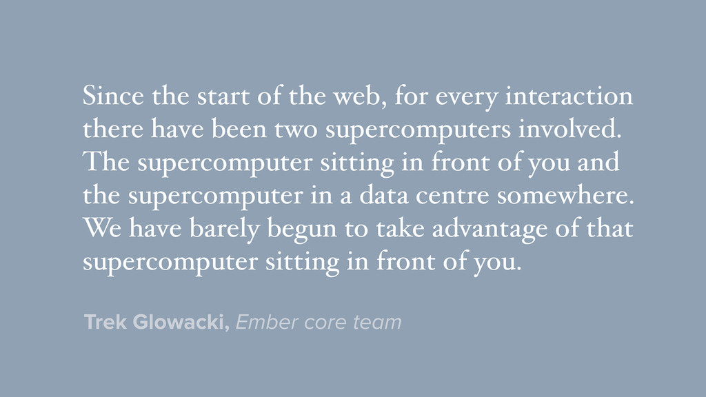 Since the start of the web, for every interacti...