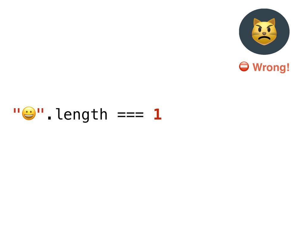 """""""$"""".length === 1 % ⛔ Wrong!"""