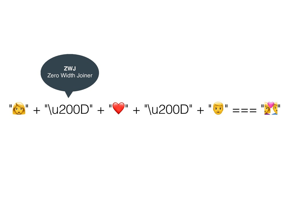 """+"" + ""\u200D"" + ""❤"" + ""\u200D"" + ""-"" === ""."" Z..."
