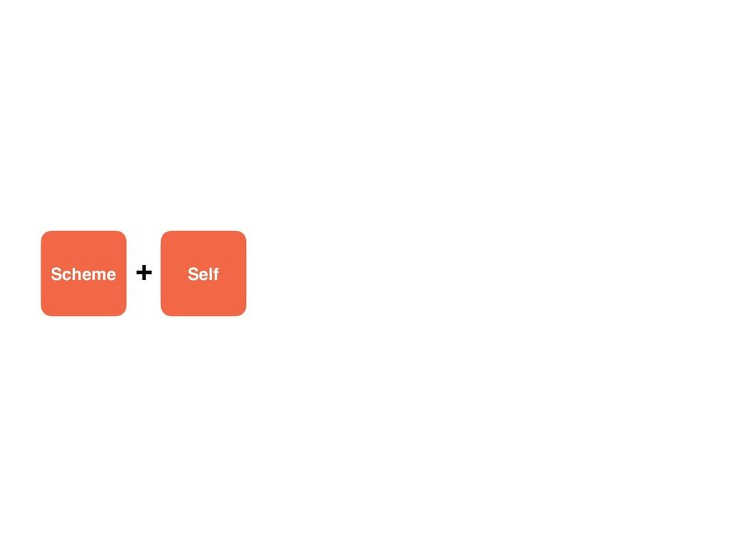 Scheme Self +