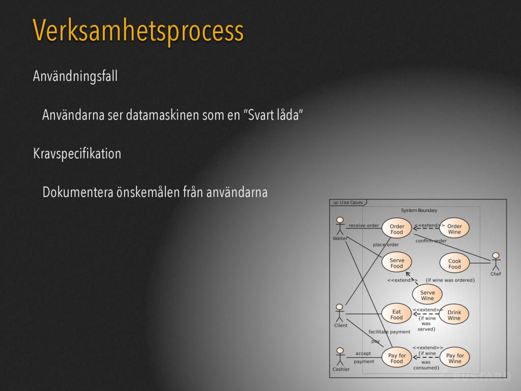 BUSTARD Verksamhetsprocess Användningsfall Anvä...