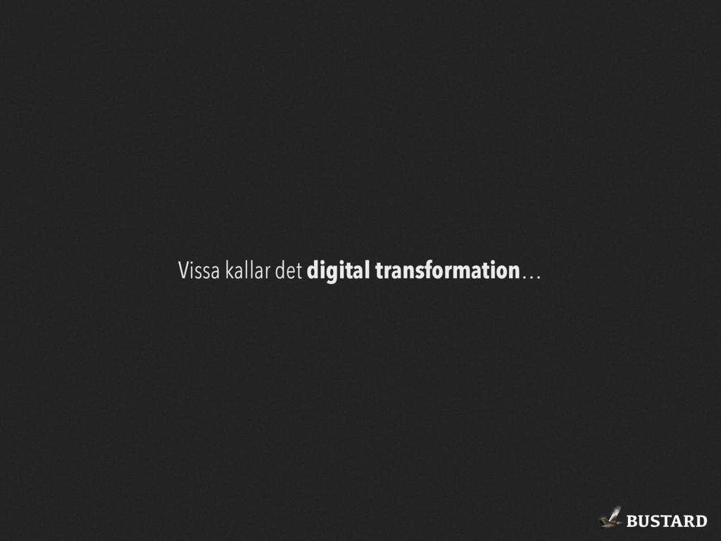 BUSTARD Vissa kallar det digital transformation…