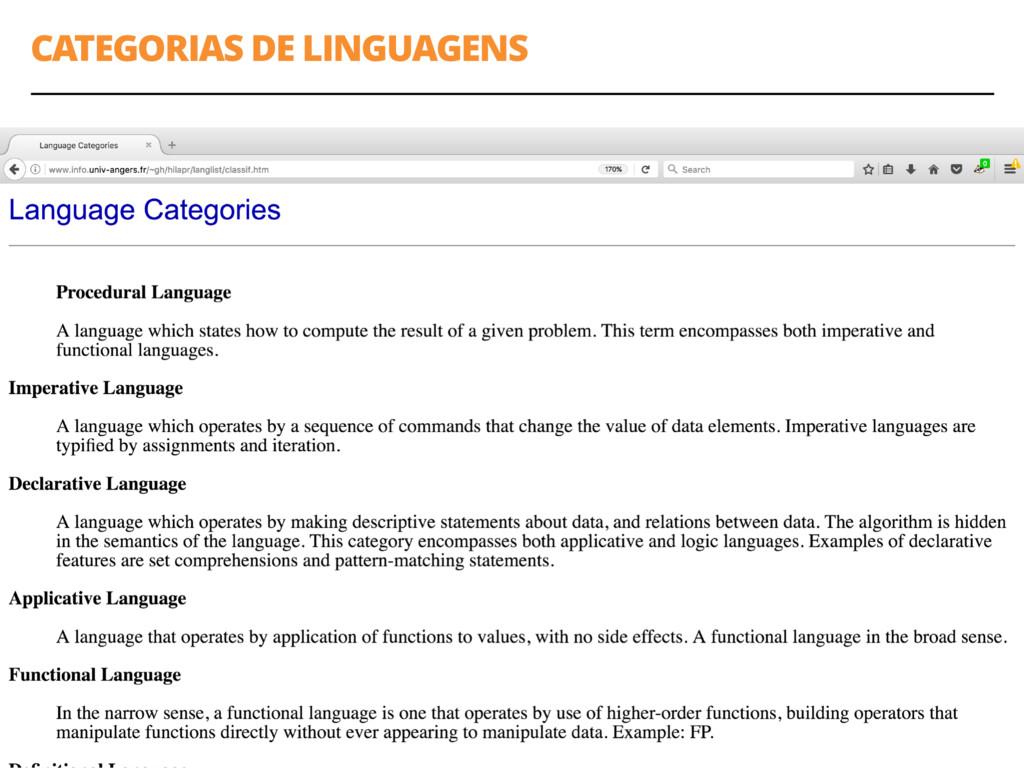CATEGORIAS DE LINGUAGENS 21