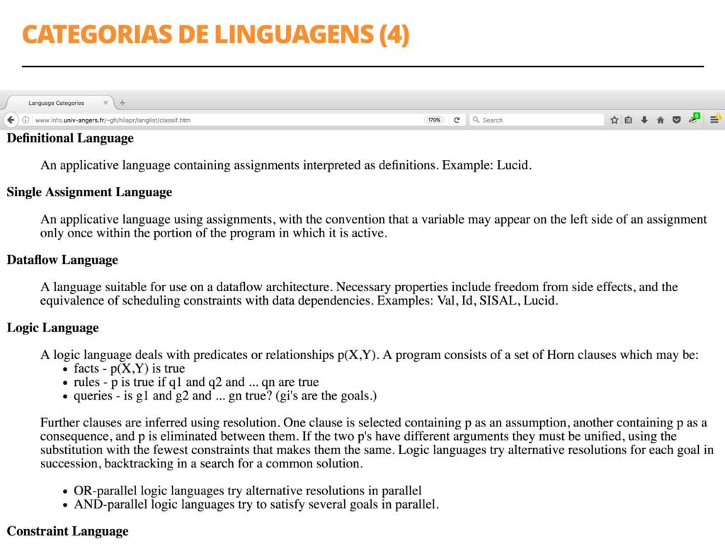 CATEGORIAS DE LINGUAGENS (4) 24