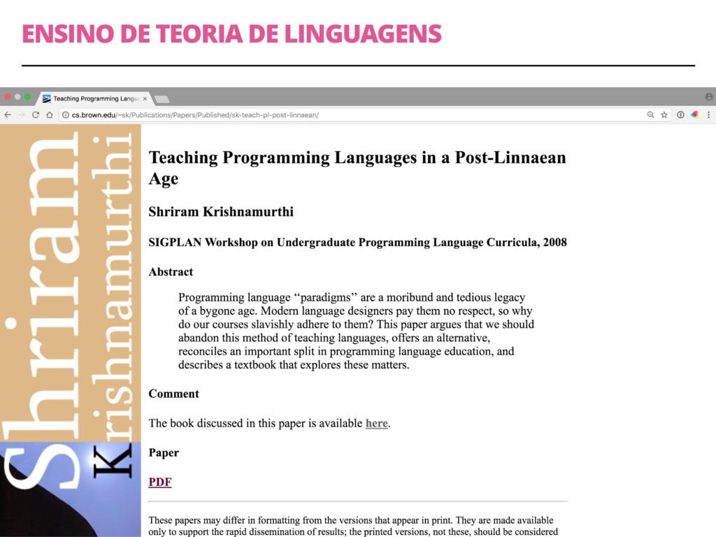ENSINO DE TEORIA DE LINGUAGENS 29
