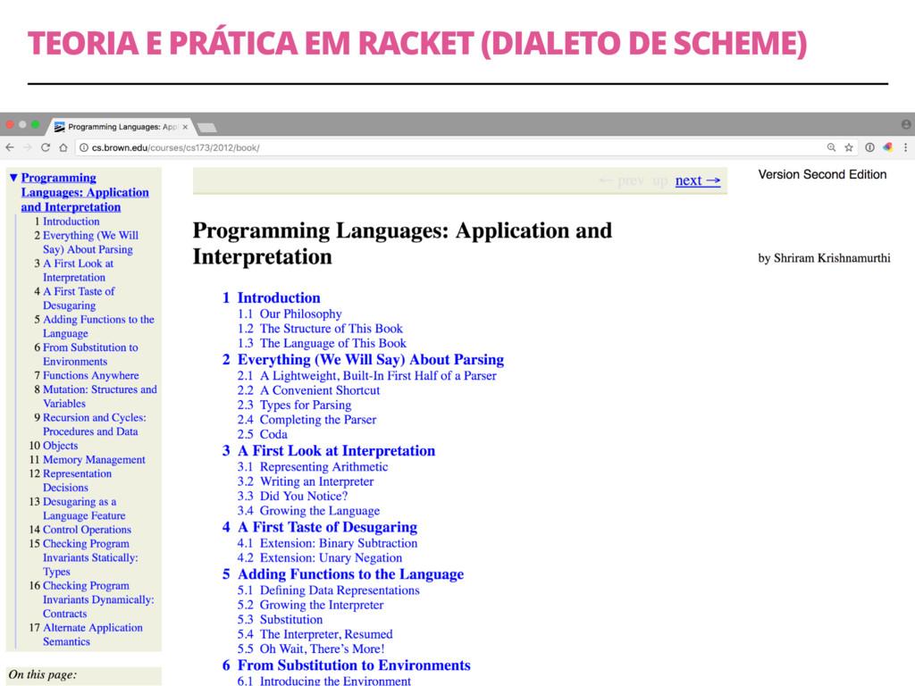 TEORIA E PRÁTICA EM RACKET (DIALETO DE SCHEME) ...