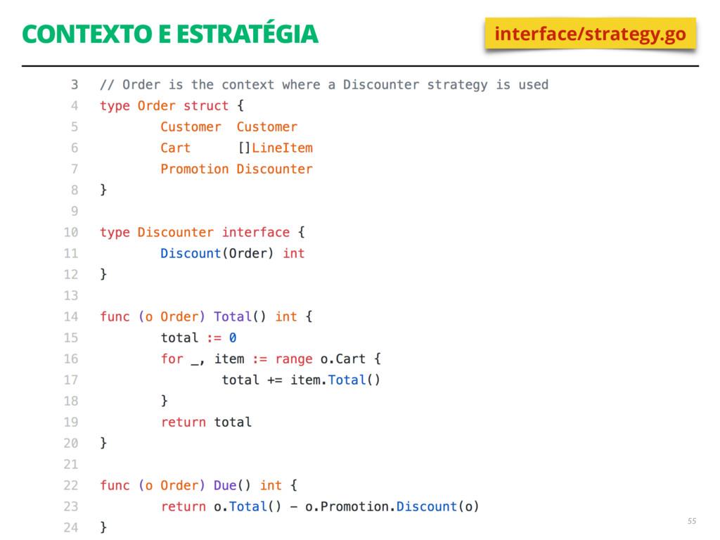 CONTEXTO E ESTRATÉGIA 55 interface/strategy.go