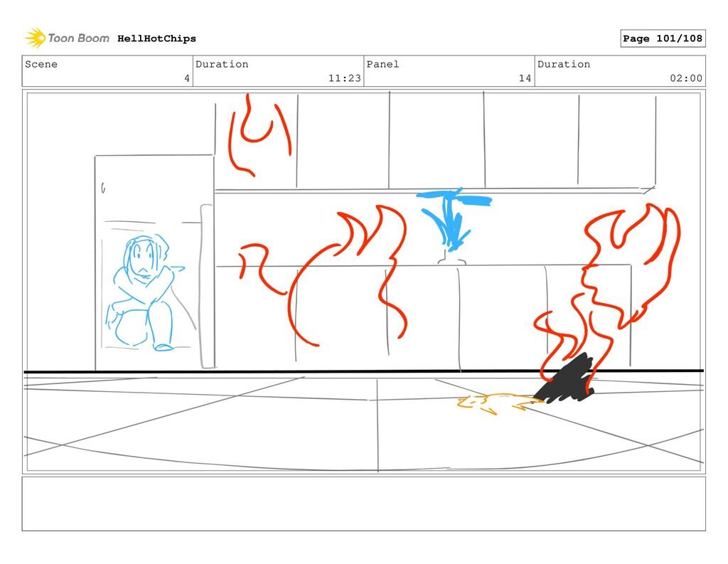 Scene 4 Duration 11:23 Panel 14 Duration 02:00 ...