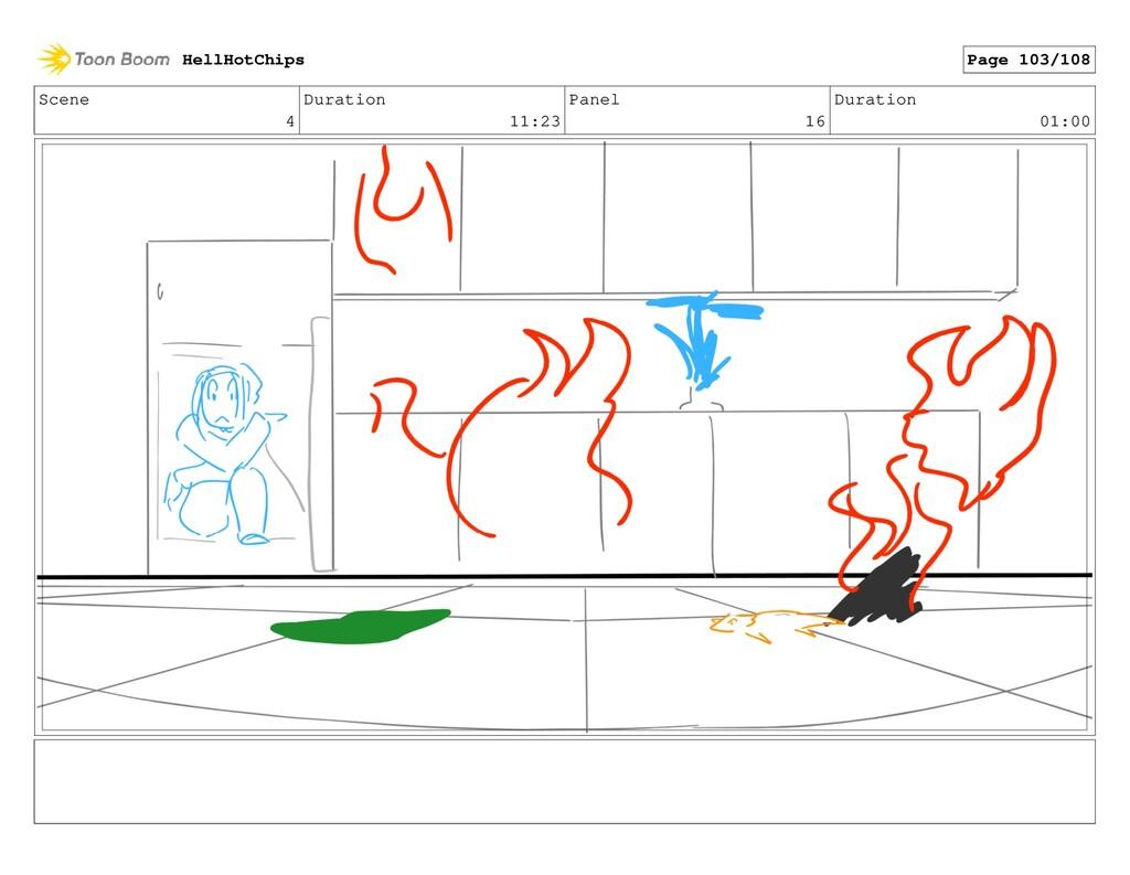 Scene 4 Duration 11:23 Panel 16 Duration 01:00 ...