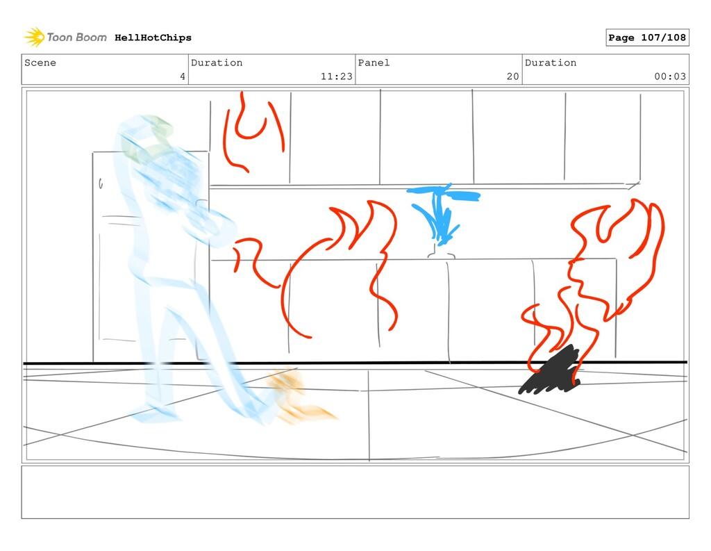 Scene 4 Duration 11:23 Panel 20 Duration 00:03 ...