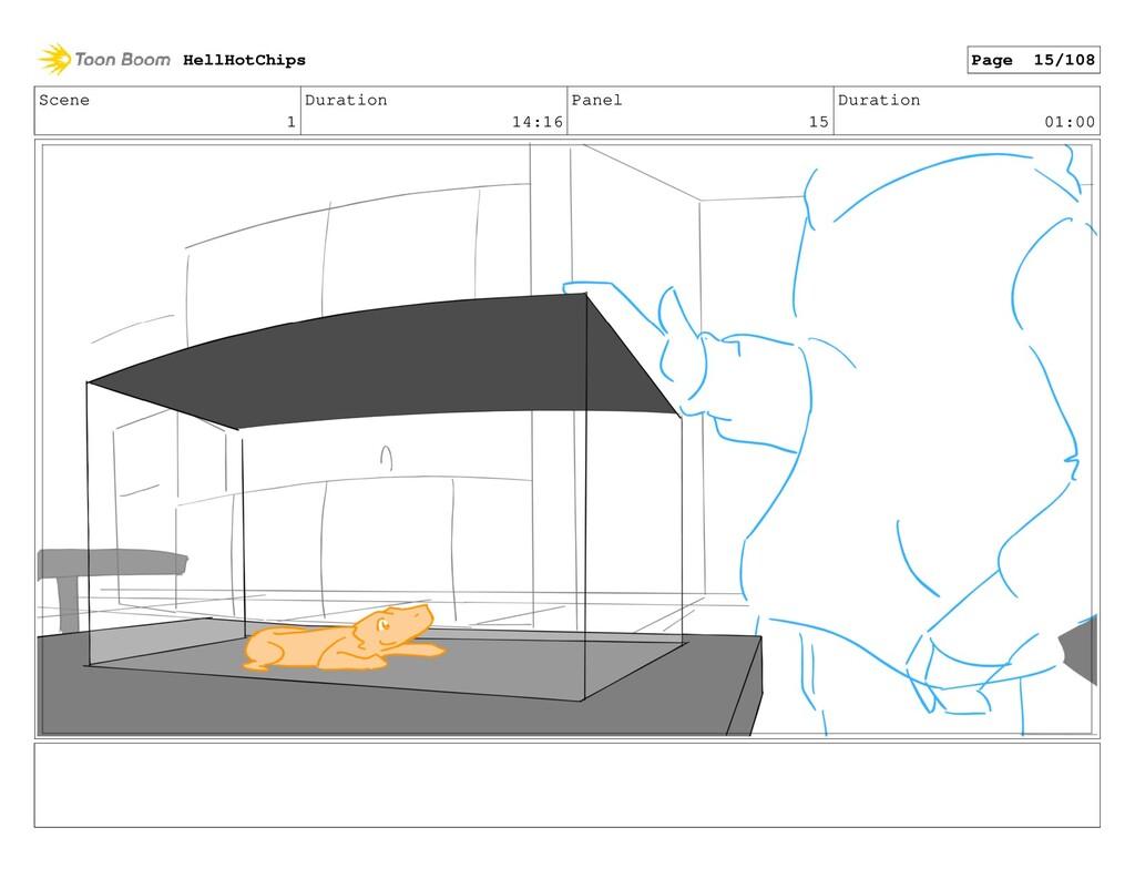 Scene 1 Duration 14:16 Panel 15 Duration 01:00 ...