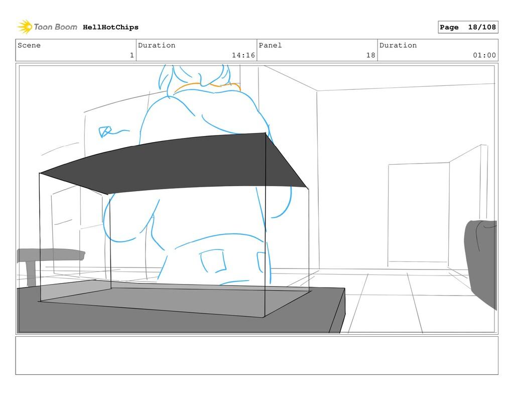 Scene 1 Duration 14:16 Panel 18 Duration 01:00 ...