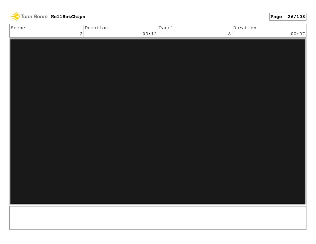Scene 2 Duration 03:12 Panel 8 Duration 00:07 H...