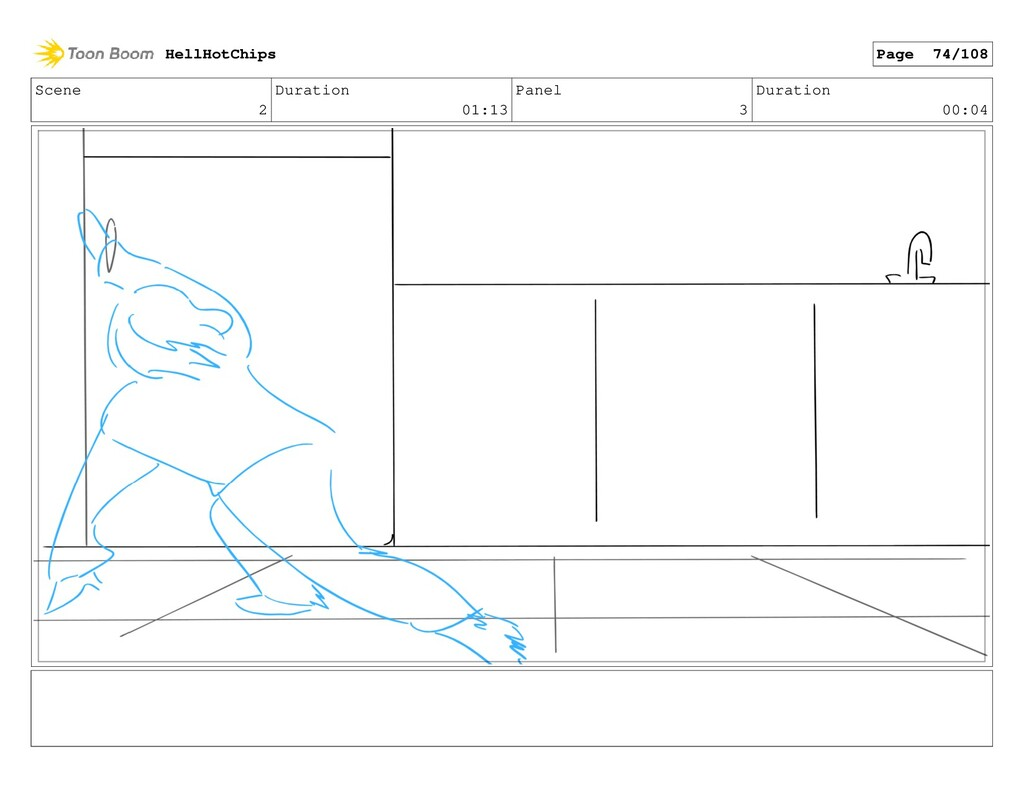 Scene 2 Duration 01:13 Panel 3 Duration 00:04 H...