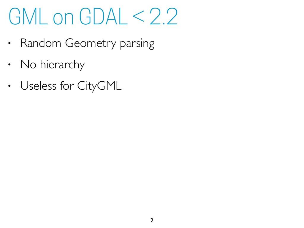• Random Geometry parsing • No hierarchy • Usel...