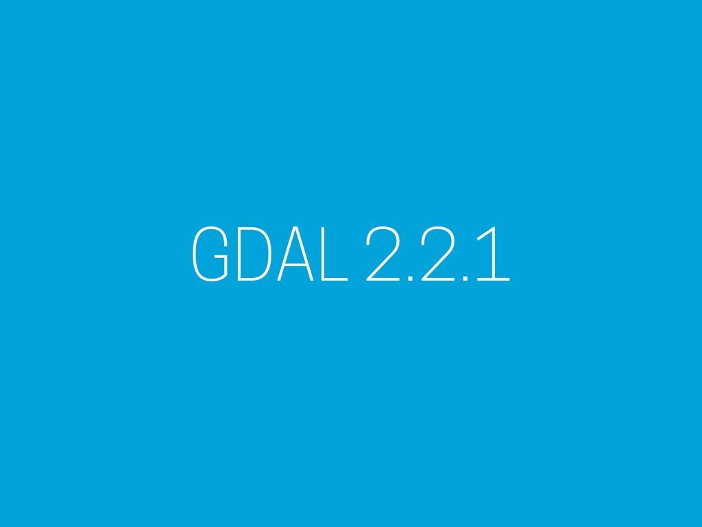 GDAL 2.2.1