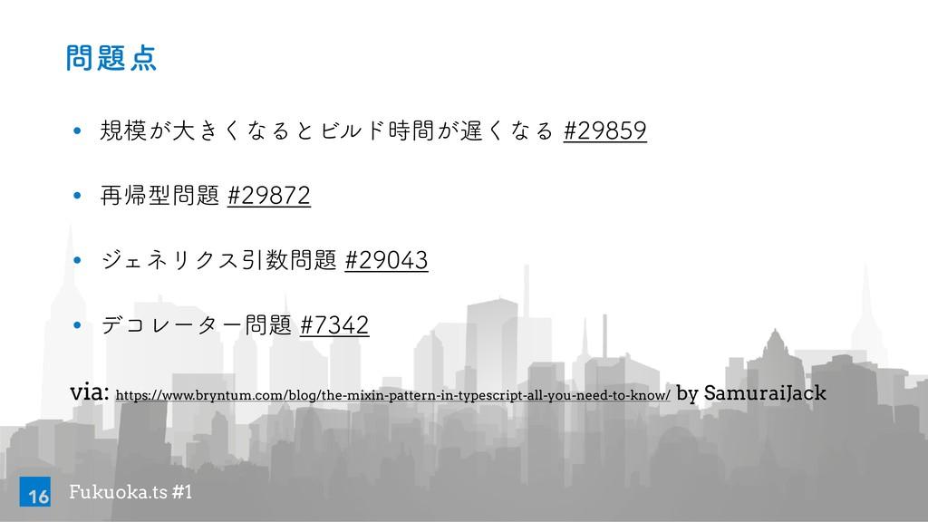 Fukuoka.ts #1  w ن͕େ͖͘ͳΔͱϏϧυ͕ؒ͘ͳΔ...