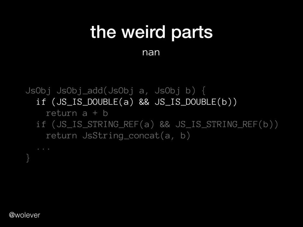 @wolever the weird parts nan JsObj JsObj_add(Js...