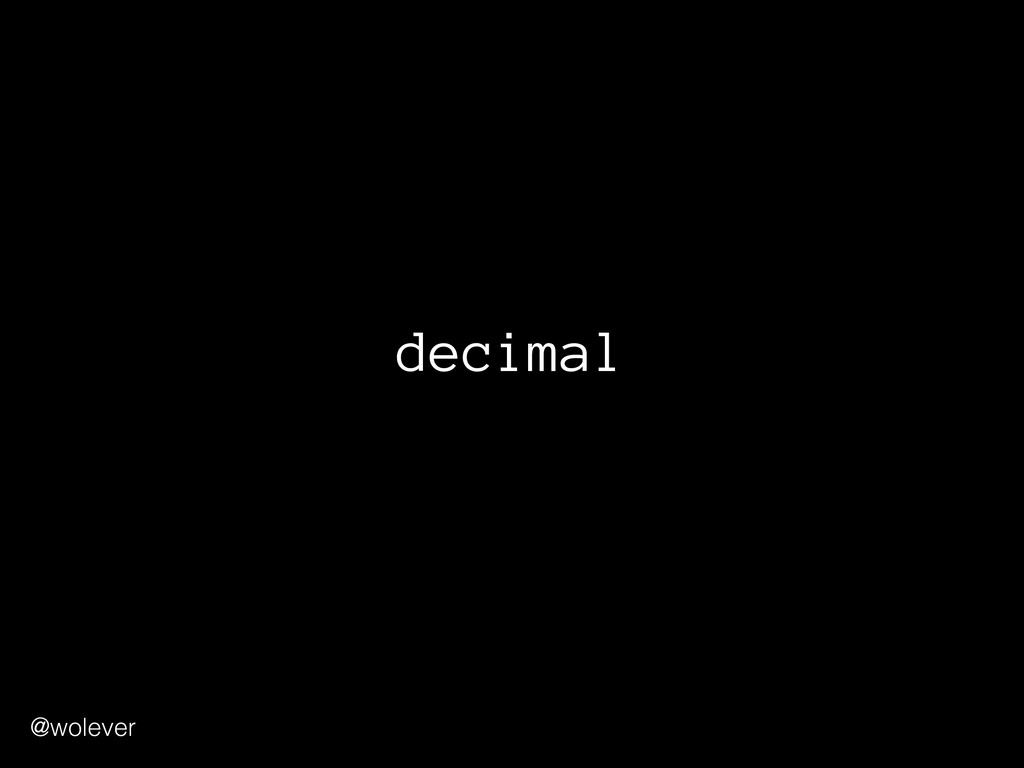 @wolever decimal