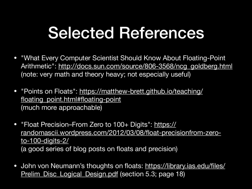 """Selected References • """"What Every Computer Scie..."""