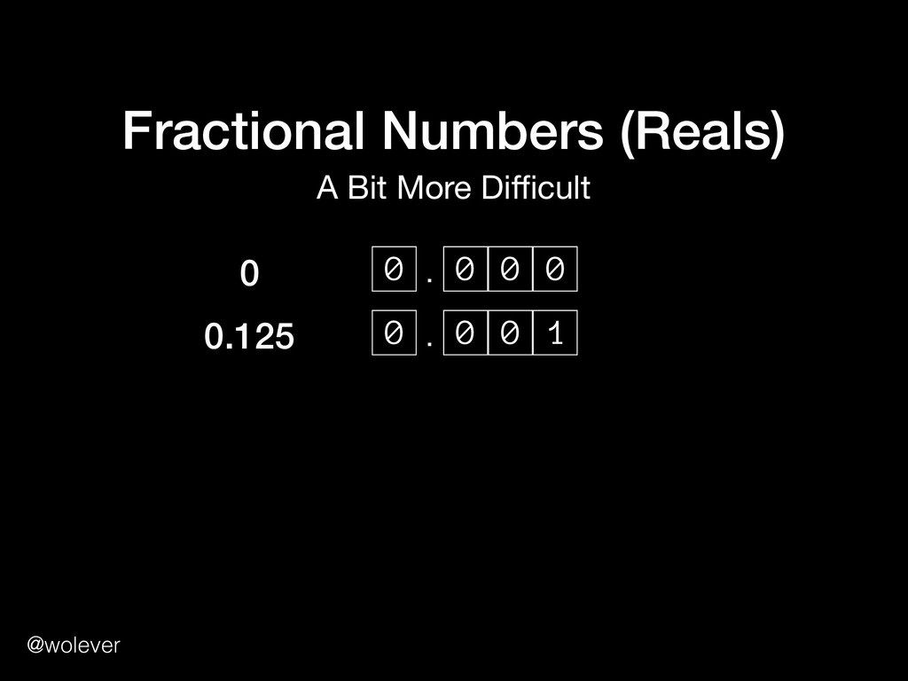 @wolever Fractional Numbers (Reals) A Bit More ...