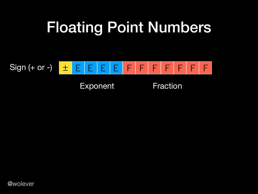 @wolever Floating Point Numbers ± E E E E F F F...