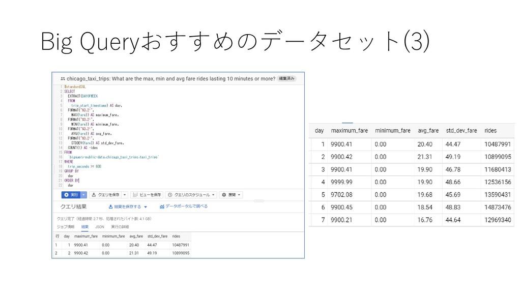 Big Queryおすすめのデータセット(3)
