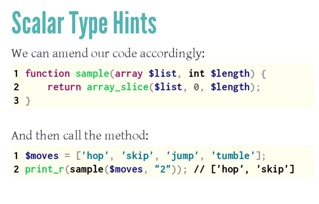 Scalar Type Hints We can amend our code accordi...