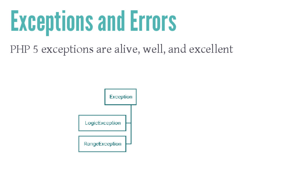 Exceptions and Errors PHP 5 exceptions are aliv...