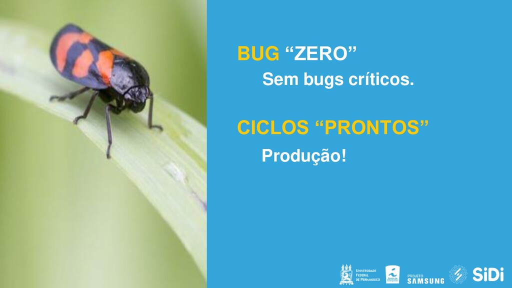"""BUG """"ZERO"""" Sem bugs críticos. CICLOS """"PRONTOS"""" ..."""