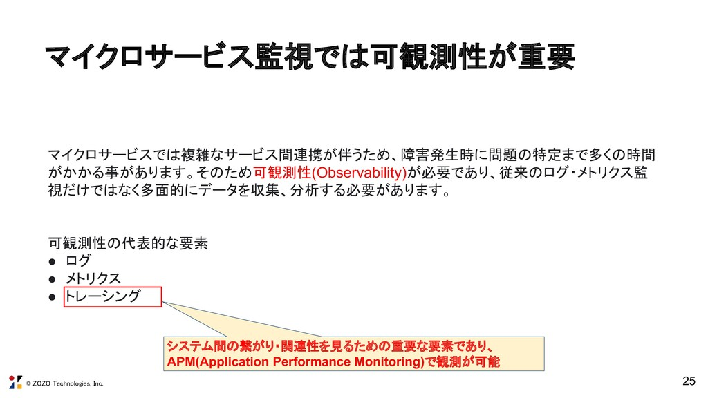 © ZOZO Technologies, Inc. 25 マイクロサービスでは複雑なサービス間...